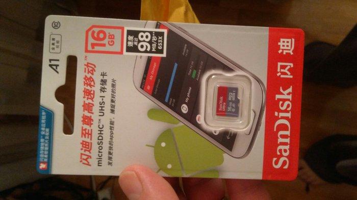 Memorijska kartica micro sd scandisc 16gb