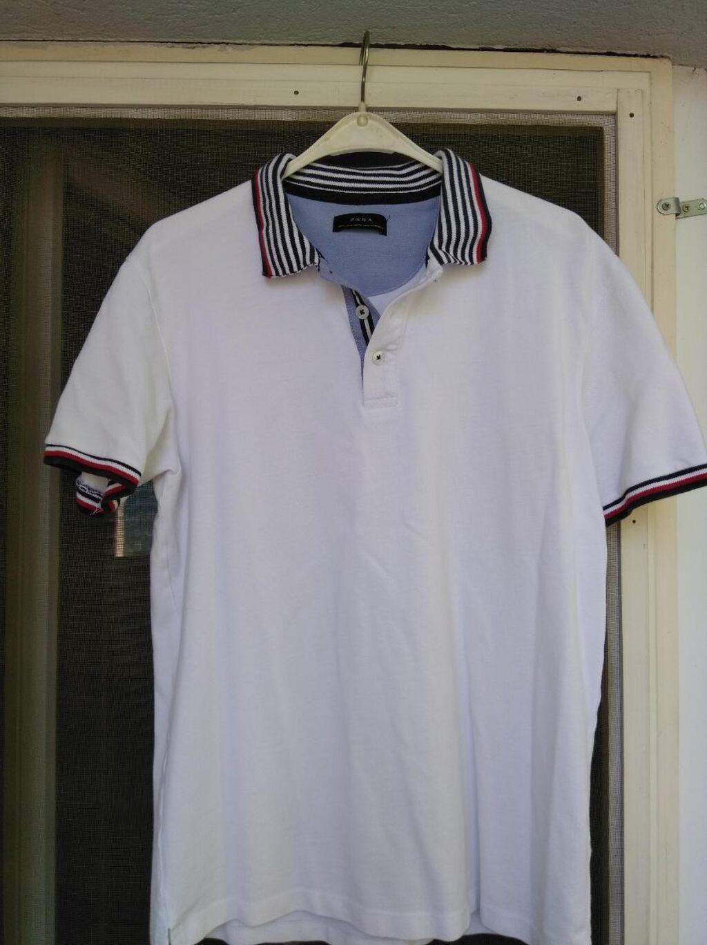 Zara majica, veličina M, bela boja, 100% pamuk
