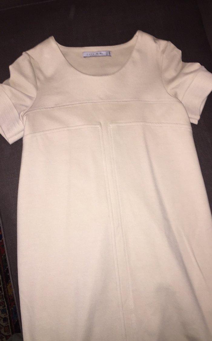 Ιβουάρ κρεπ φόρεμα Εγκυμοσύνης