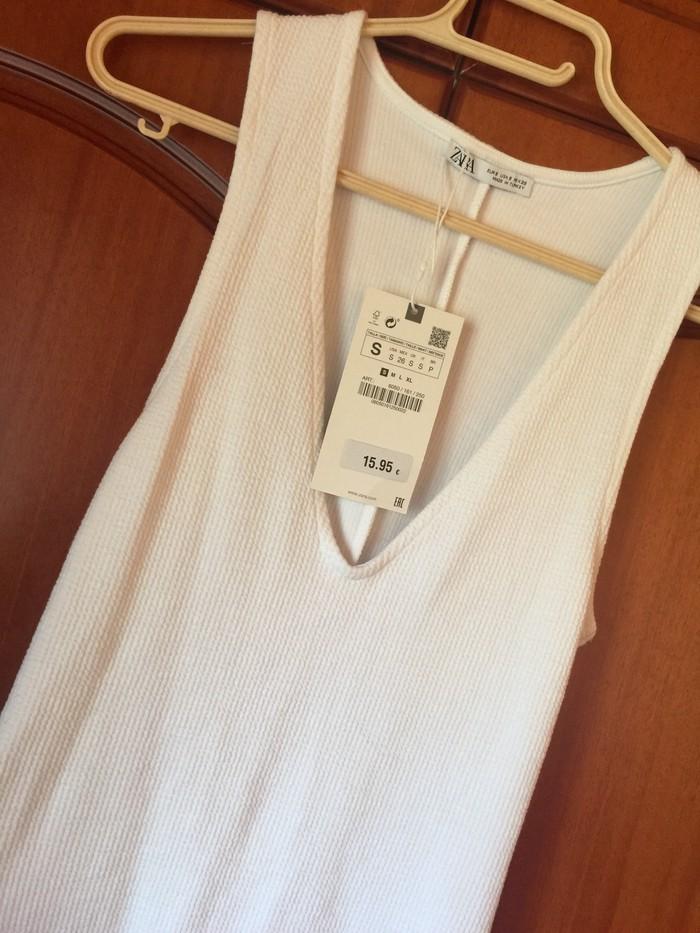 Φορεμα λευκο zara με την ετικετα του! Μεγεθος small . Photo 2
