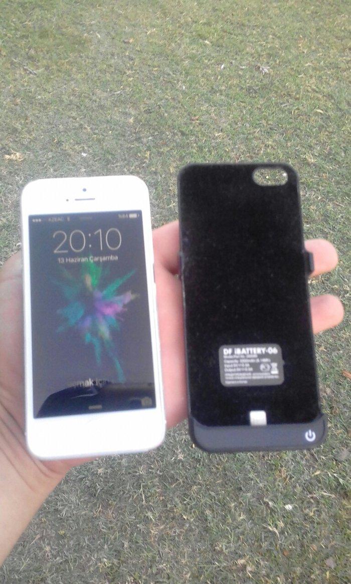 Xaçmaz şəhərində İphone  5    Ağ rengde   Poverbankla birlikde   200AZN