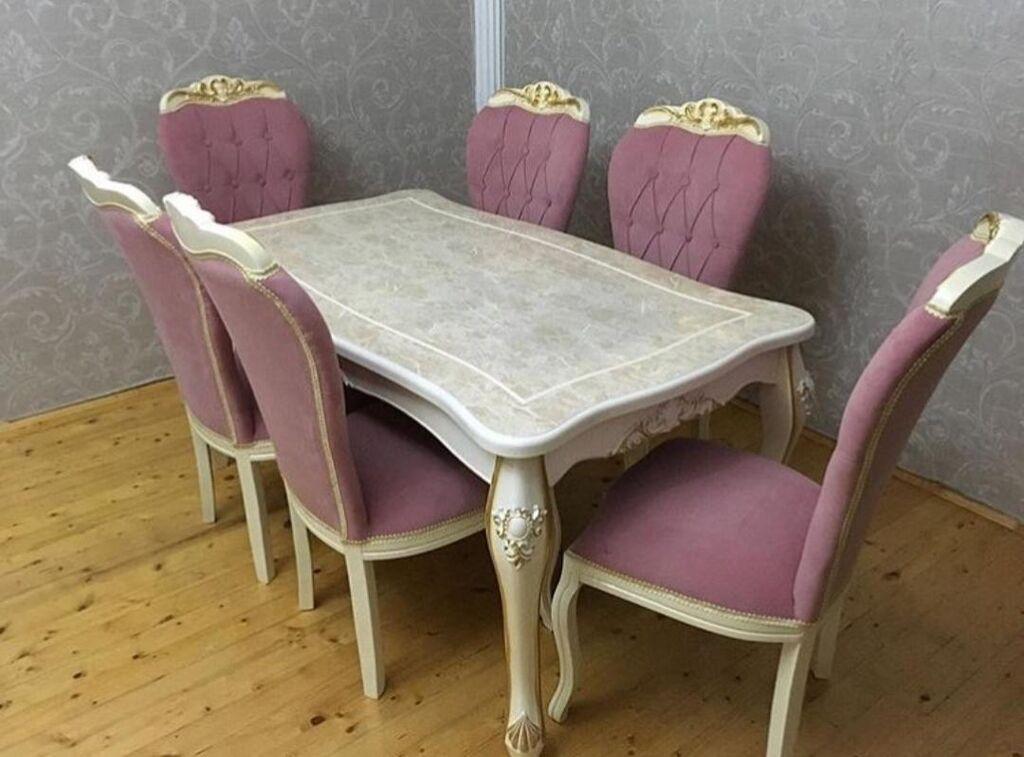 Masa ve oturacaq desti stol stullar стол с стулями YALNIZ ORGINAL VERSIYA fabrik istehsali mebellerin anbar - endirimli qiymetlerle satisi