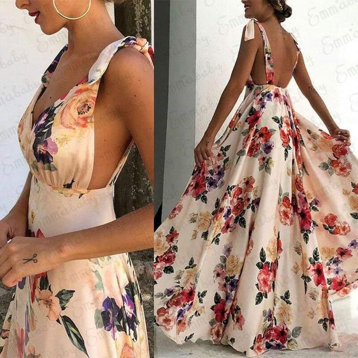 Φόρεμα μάξι φλοραλ σε διάφορα μεγέθη σε Αθήνα