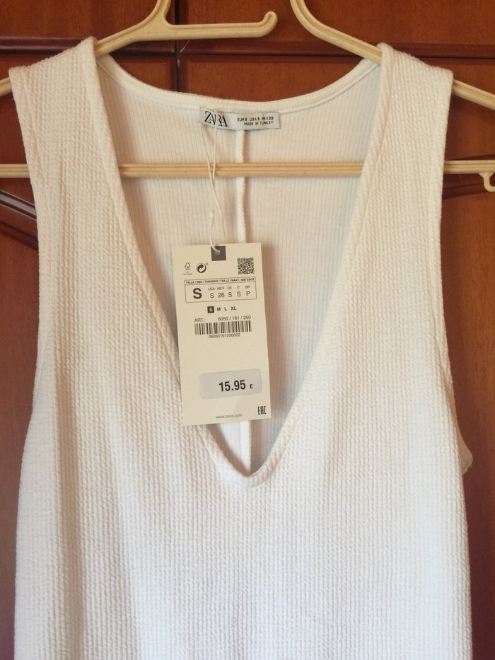 Φορεμα λευκο zara με την ετικετα του! Μεγεθος small . Photo 1