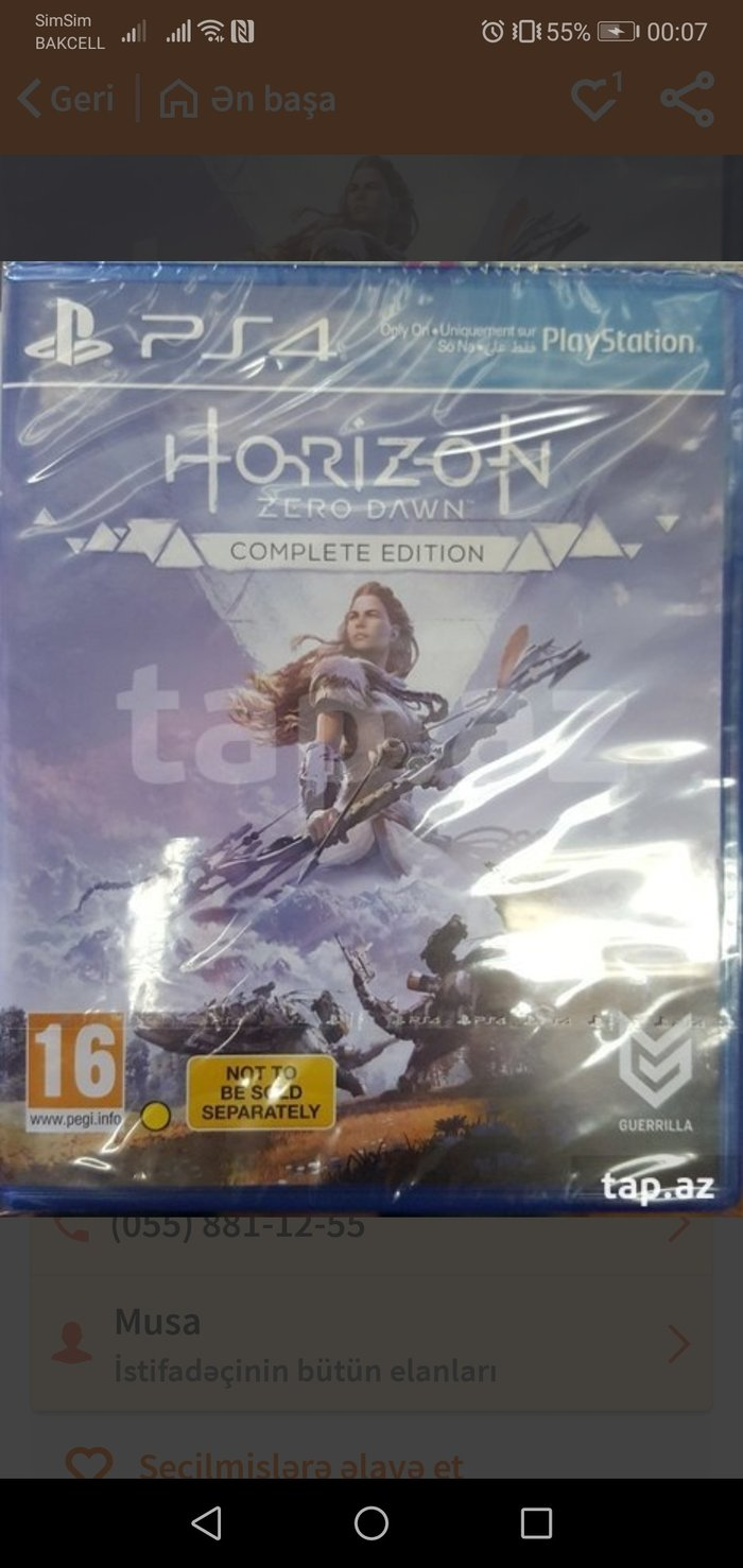 Horizon zero dawn compete edition in Bakı