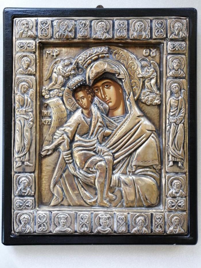 Βυζαντινό αντίγραφο από ασήμι 950° που απεικονίζει την Παναγία με τον Χριστό