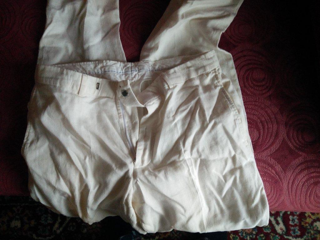 Παντελόνι HUGO BOSS, γνήσιο, 100% λινό, από την προσωπική μου καρνταρόμπα, μέγεθος 52, λευκό