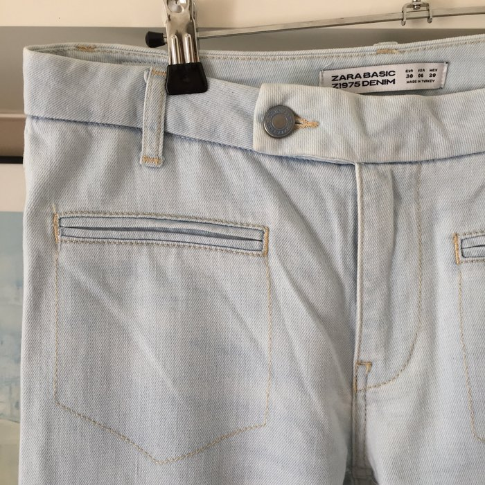 Zara ανοιχτό γαλάζιο jean καμπάνα.. Photo 6