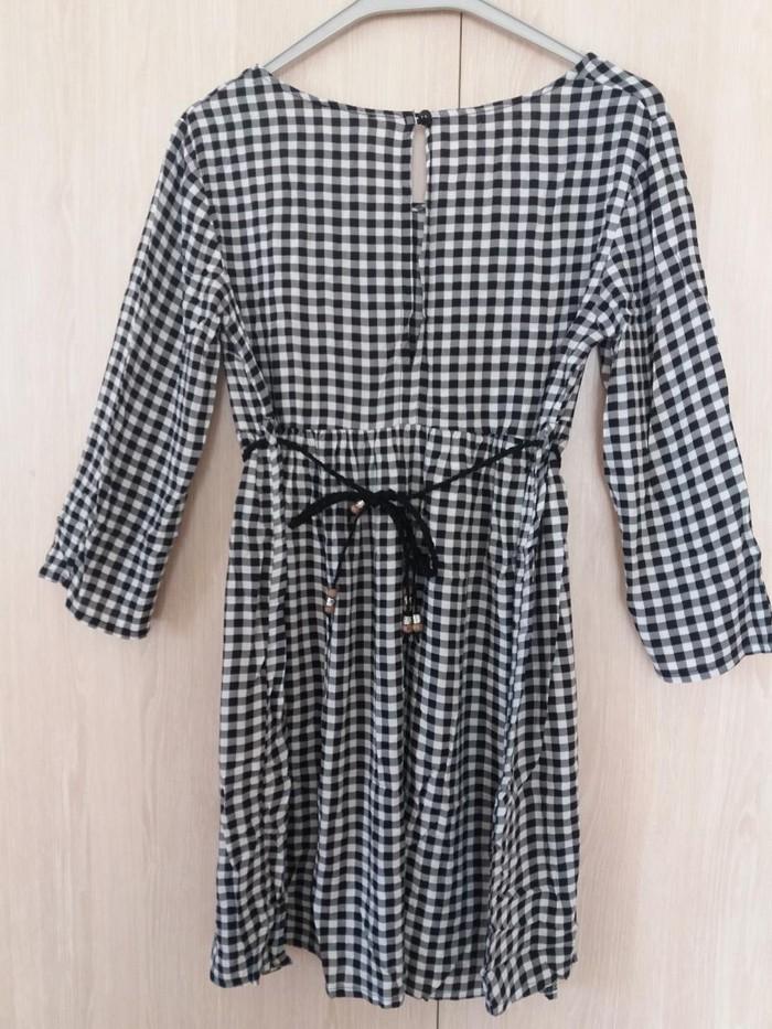 Φορεμα ths medium, αναλαφρο καρο ασπρομαυρο με ζωνακι.. Photo 2