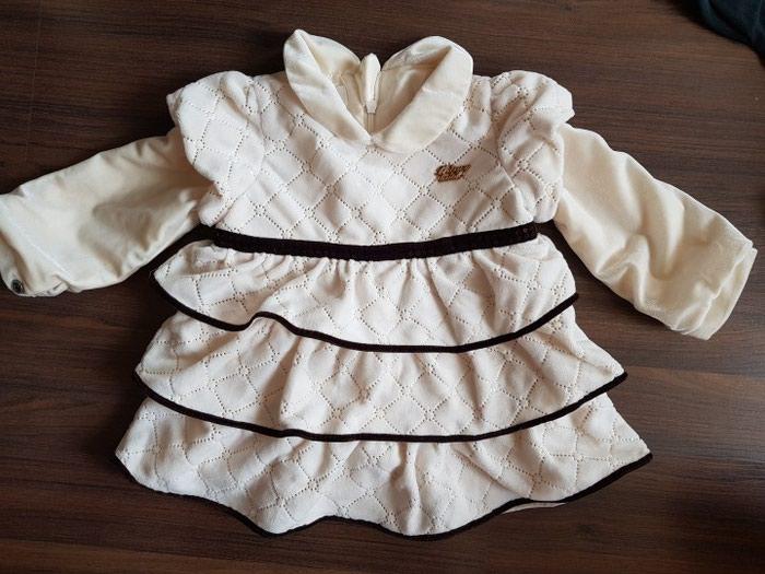 264802c7caaec19 Платье велюр. Новое. размер 9-12 месяцев за 500 KGS в Бишкеке ...