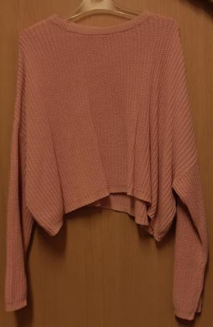 Πουλόβερ χρώματος ροζ γυναικείο Μέγεθος medium. Photo 0