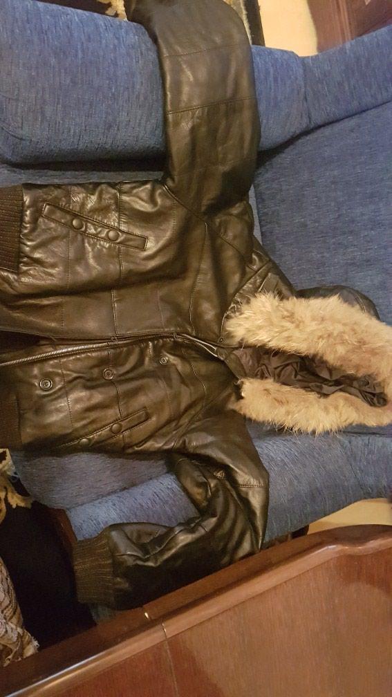 Kozna jakna sa krznom kao novo. Photo 0