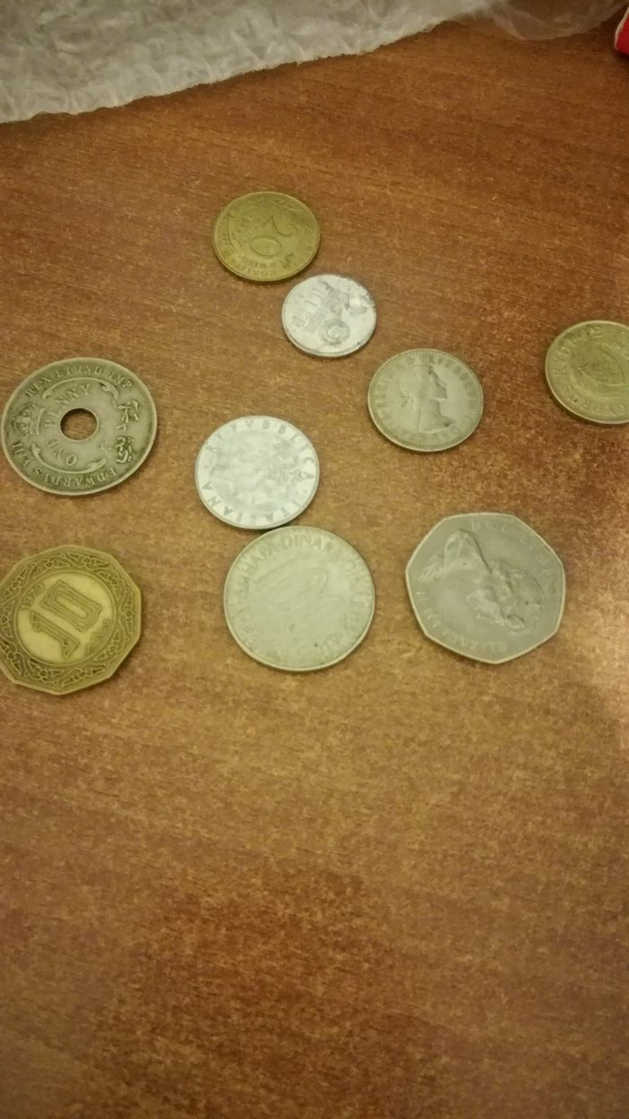 Various rare coins from different countries. σε Ίλιον