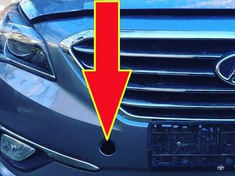 Буксировочная заглушка от Hyundai Sonata 2015.. Photo 1