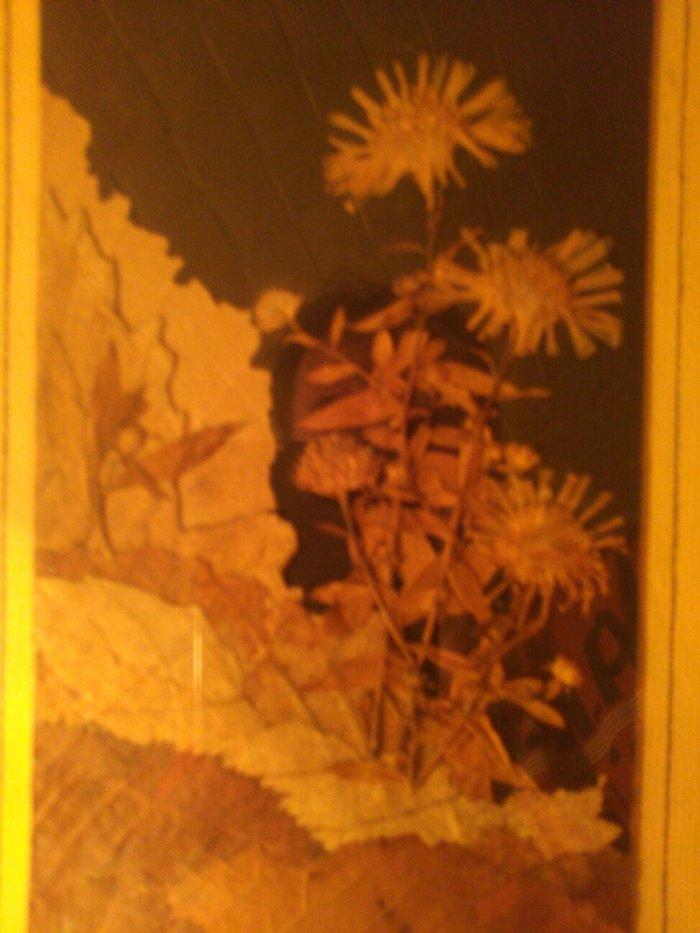 Slike - Pancevo: Slika od latica suvog cveca i lisca