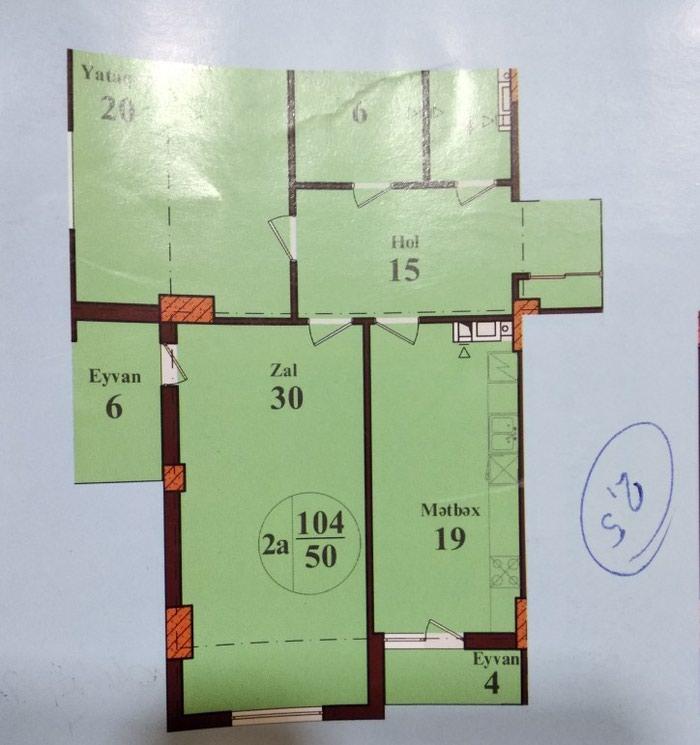 Mənzil satılır: 2 otaqlı, 104 kv. m., Bakı. Photo 8