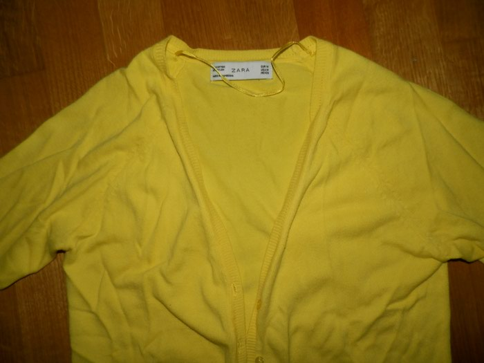 Zara small ζακετα φορεμενη 1-2 φορες σε εντονο κιτρινο  . Photo 1
