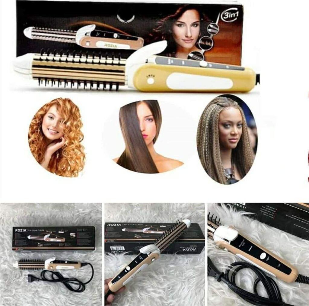 ROZIA 3u1 Keramicka pegla za ravnu ili lomljenu kosu i figaro za kosu