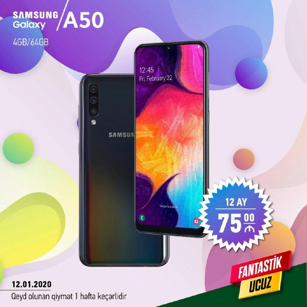 Yeni Samsung A50 64 GB qara