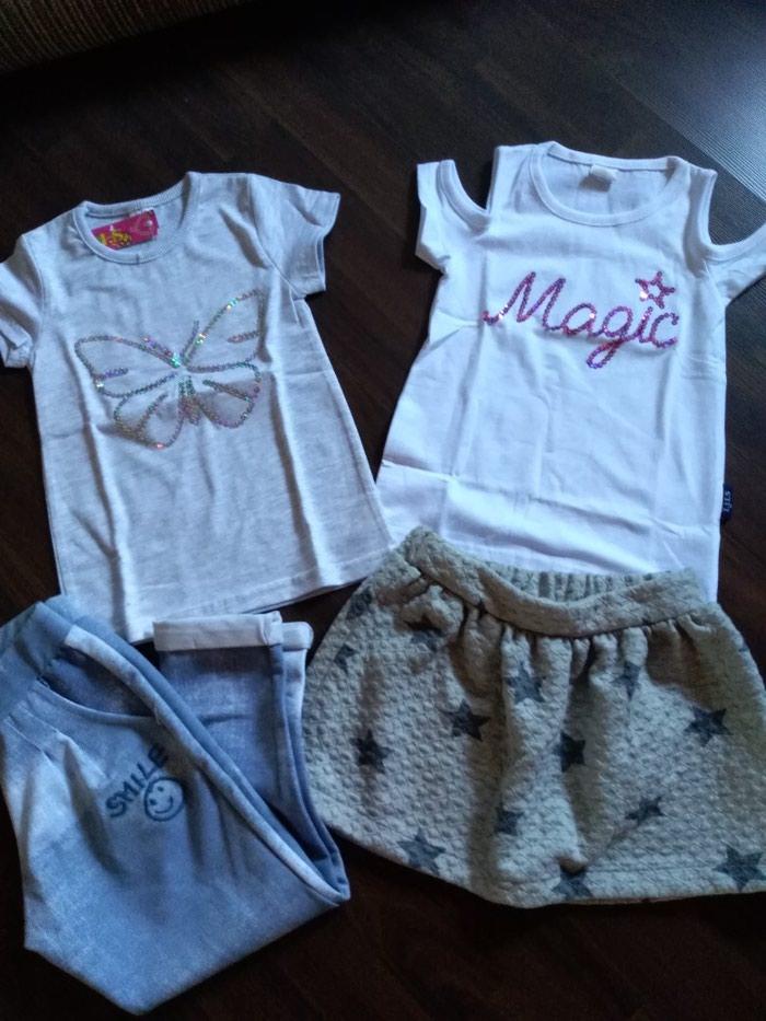 Paket nove garderobe za devojčicu. Veličina 4 - Ruma
