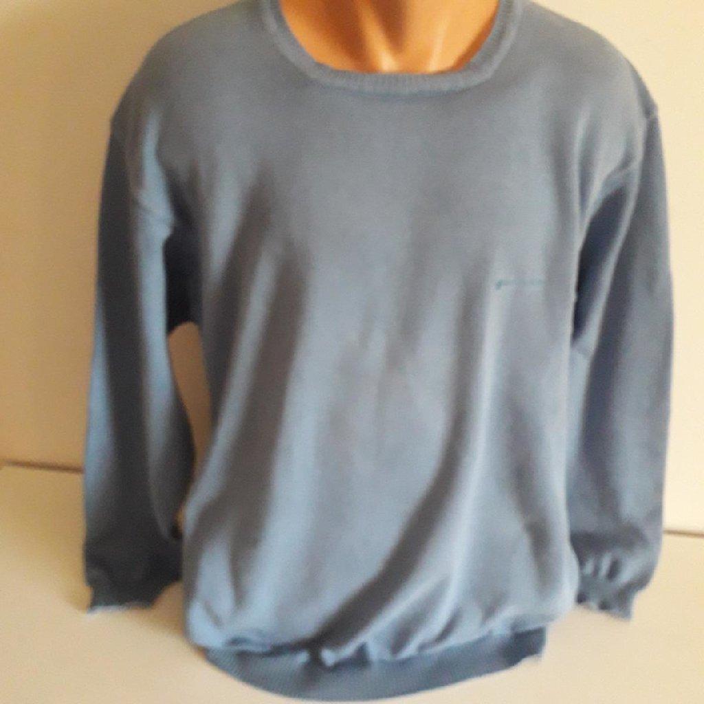 Burlington pamučni džemper plave boje vel XXL