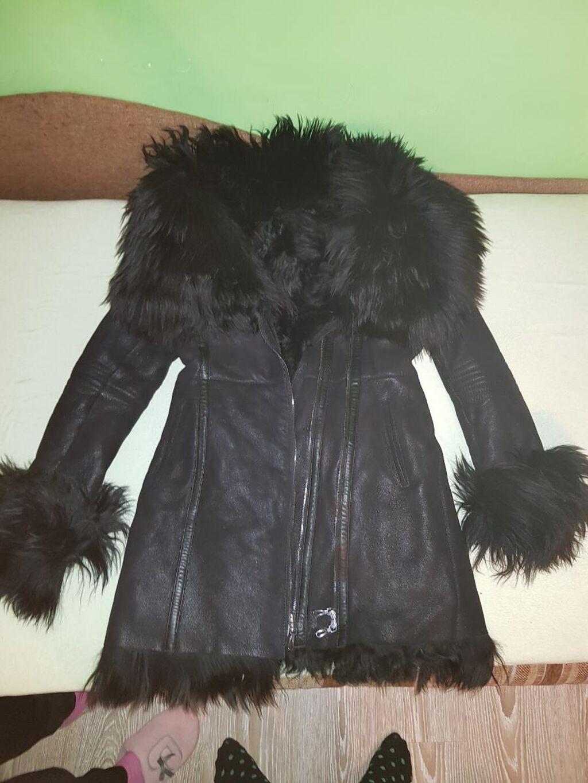 Monton kožna jakna- prirodna jagnjeća koža