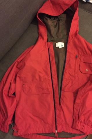 Zara red rain jacket . New . Size 8