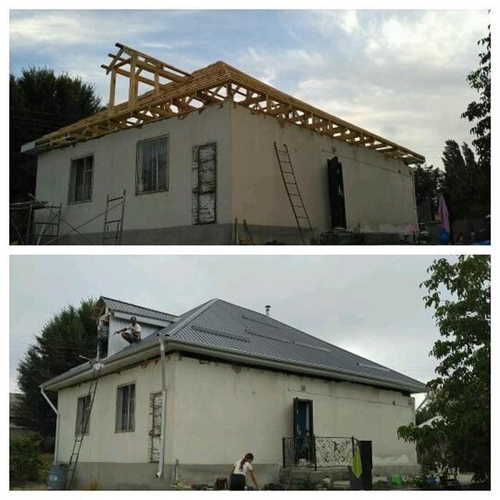 Крыша жабабыз стяжка кафель мастер бригада . Photo 4