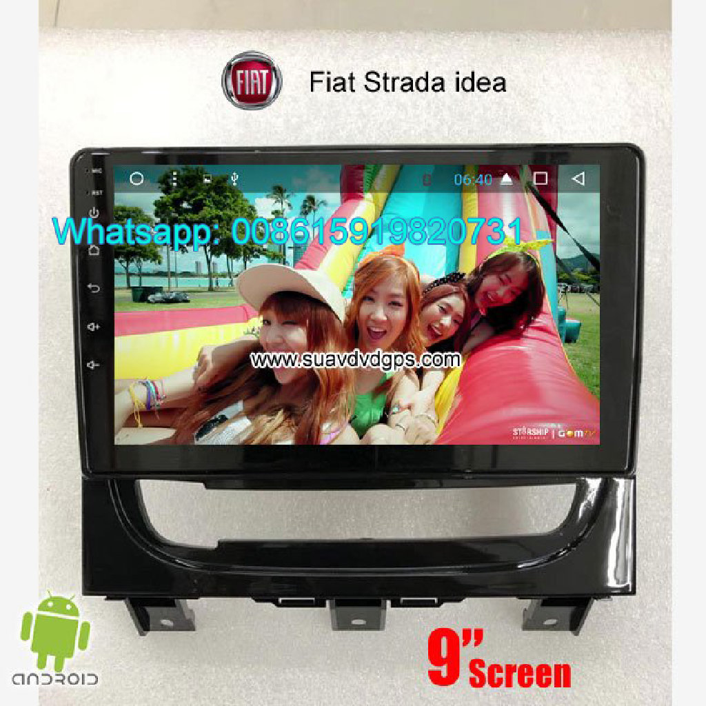 Fiat Strada idea Car audio radio android GPS navigation camera