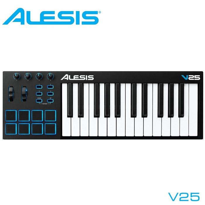 Миди клавиатура Alesis V25 – это мощный и интуитивно понятный MIDI-контроллер, который позволит вам управлять своим музыкальным программным обеспечением множеством регуляторов, кнопок и пэдов