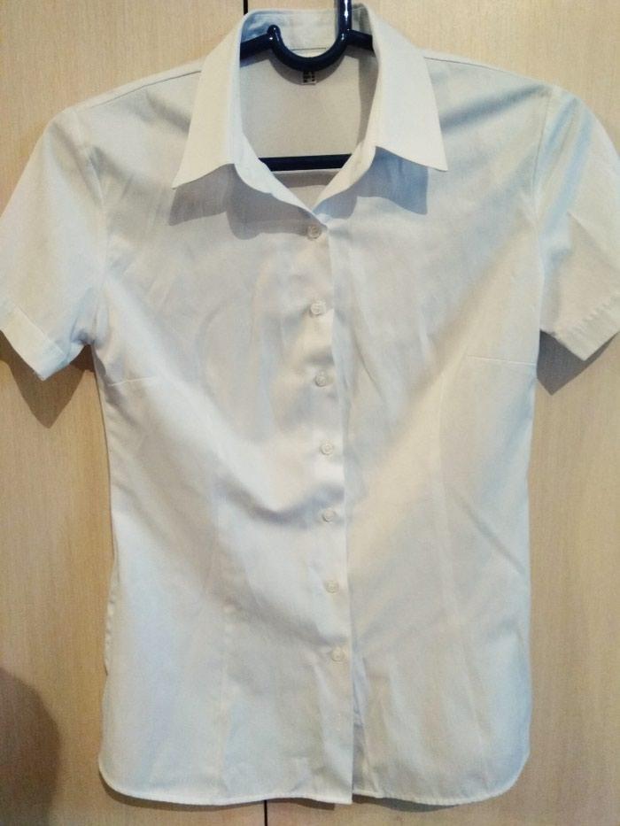ХБ Белая рубашка, размер 44-46. вещи в профиле. в Бишкек