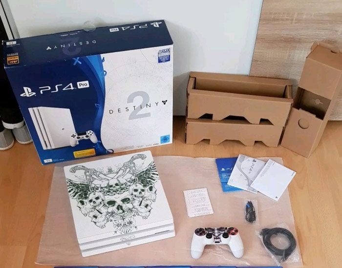 Sony PlayStation 4 pro 1TB with 2 controllers and 5 free games of your. Photo 0