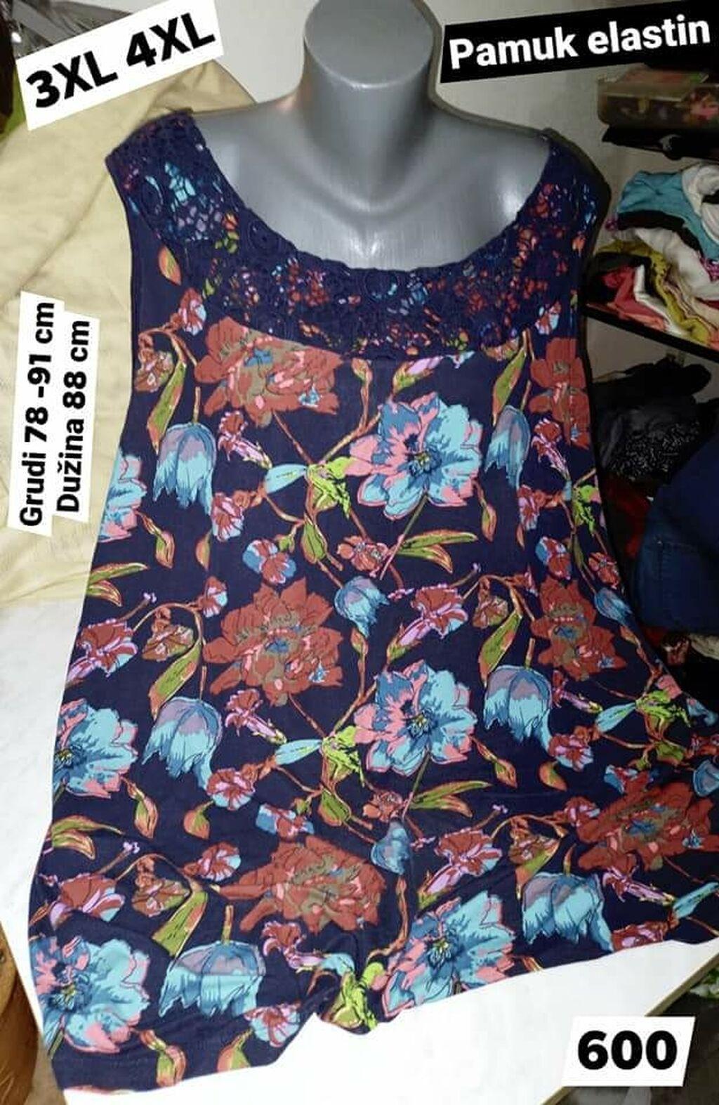 Ženske majice - Leskovac: XXXL XXXXL pamuk elastin