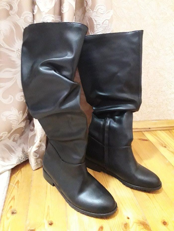 Черные женские сапоги, неношенные. Размер 37 в Баку