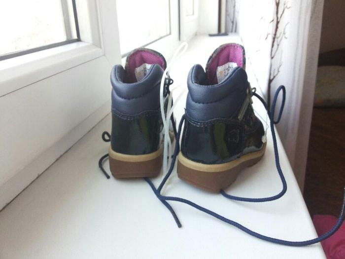Ботинки деми фирма Timberland. Лакированные. Новые. Размер 20.5. Photo 3
