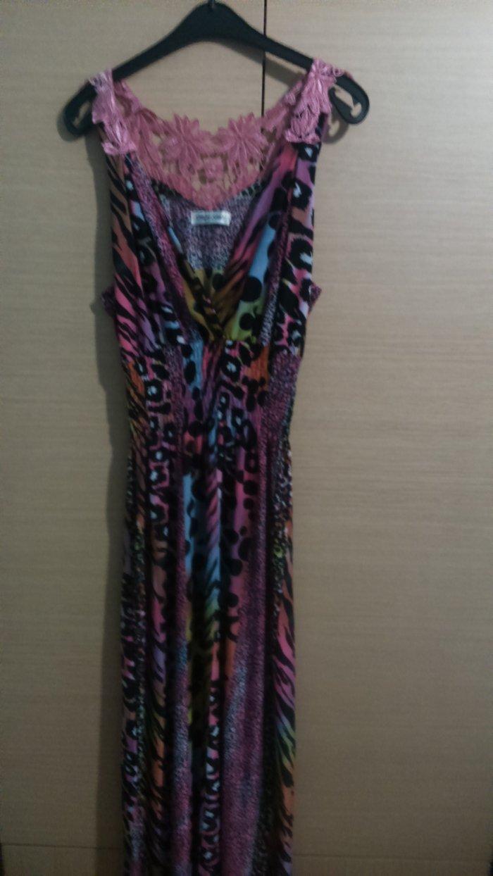 Φόρεμα μακρύ χρωματιστό σε άριστη κατάσταση, μέγεθος one size. σε Δυτική Θεσσαλονίκη
