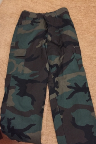 Cotton camouflage pants . New bought 32€ . Age/Size 14