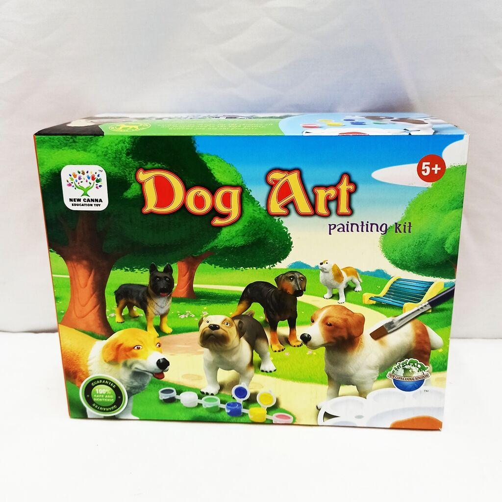 Набор детского творчества - раскраска 3D фигурки резиновой собачки Добермана!!🦺🦺