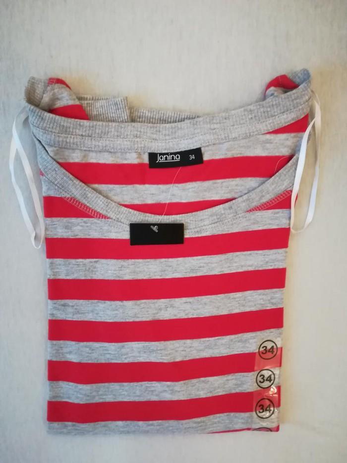 Zenska majica, crveno siva, marka Janina, velicina 34, vrhunski kvalitet, pamucna, nova, uvoz iz Nemacke