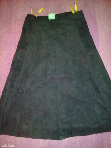 C&a plisirana crna suknja (sa postavom) vel. 40. L, duzina 70cm,. Photo 3