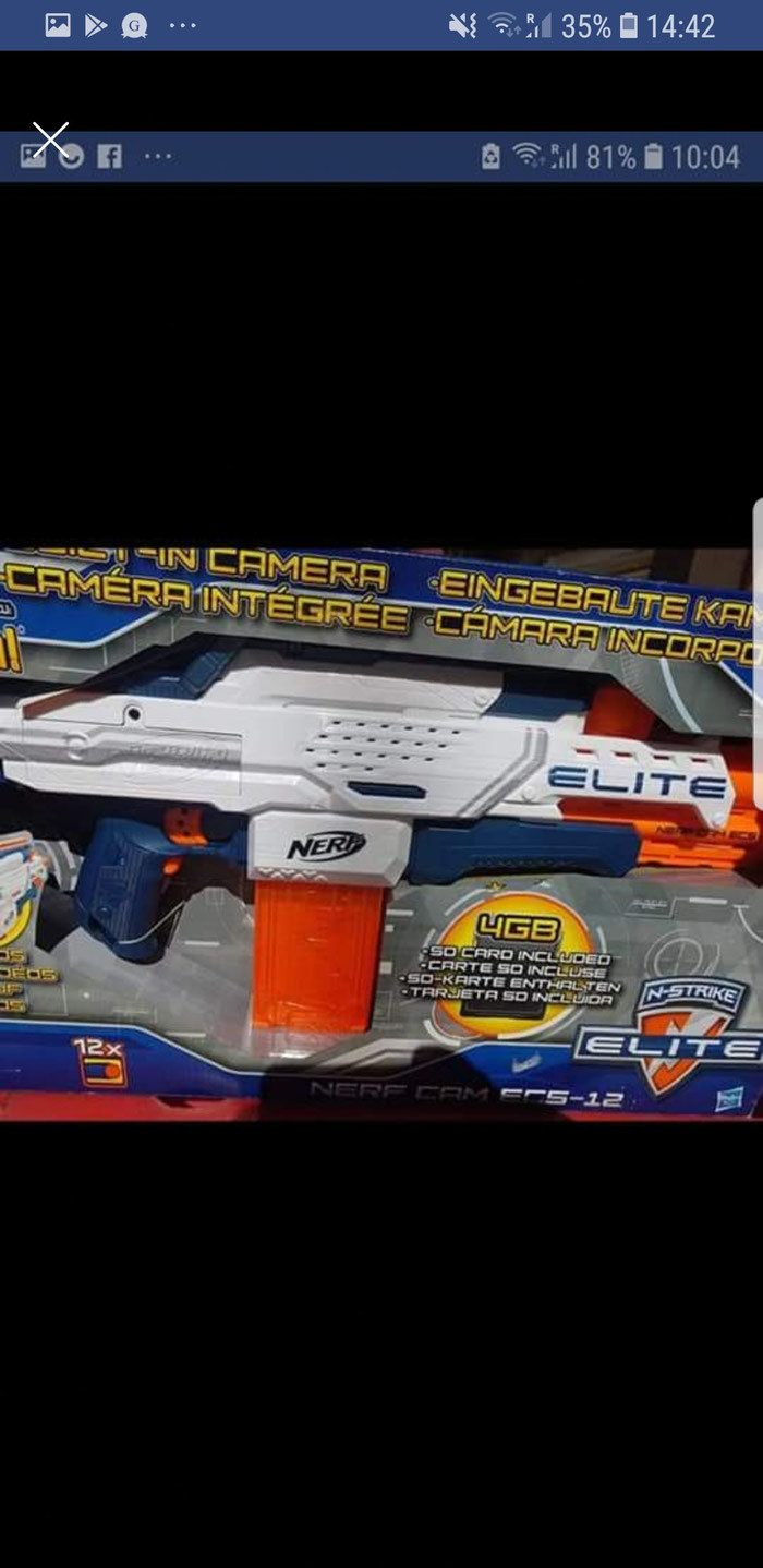 Nerf Camera ECS-12,N-Strike Elite with memory card and bullets. Photo 1