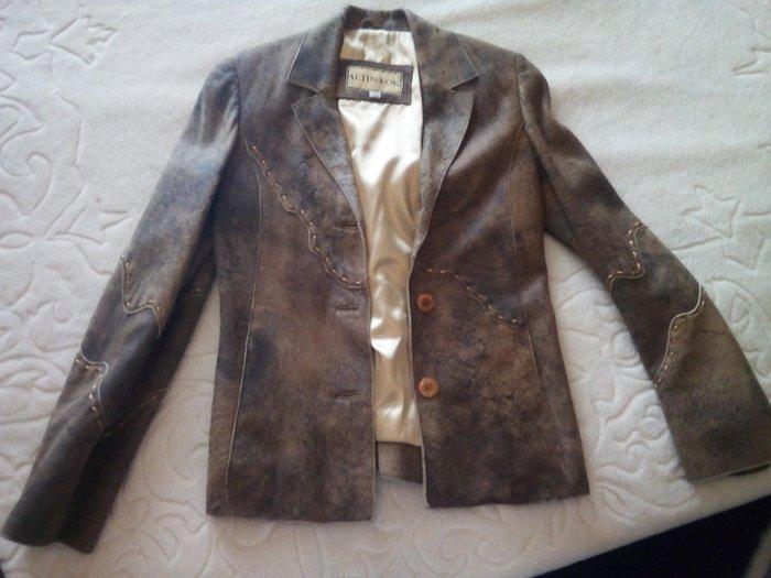 ΣΕΒΗ Δερματινο σακακι αψογο!! αγορασμενο 180€ μονο σοβαρες προτασεις σε Γαλατάς