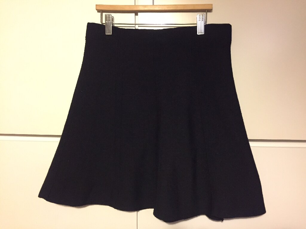 Zara mini black crep skirt