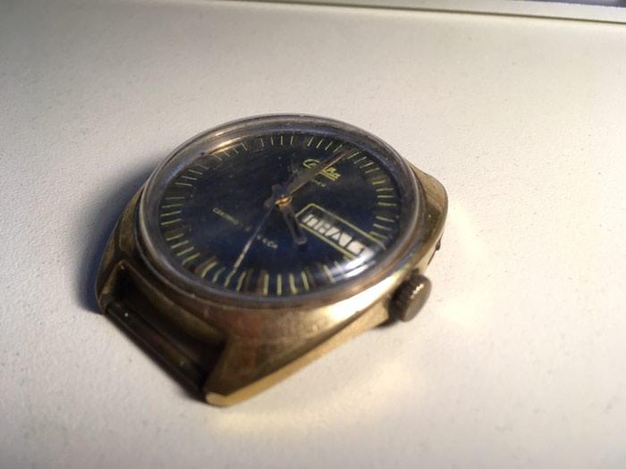 Kişi Qızılı Klassik Qol saatı . Photo 2