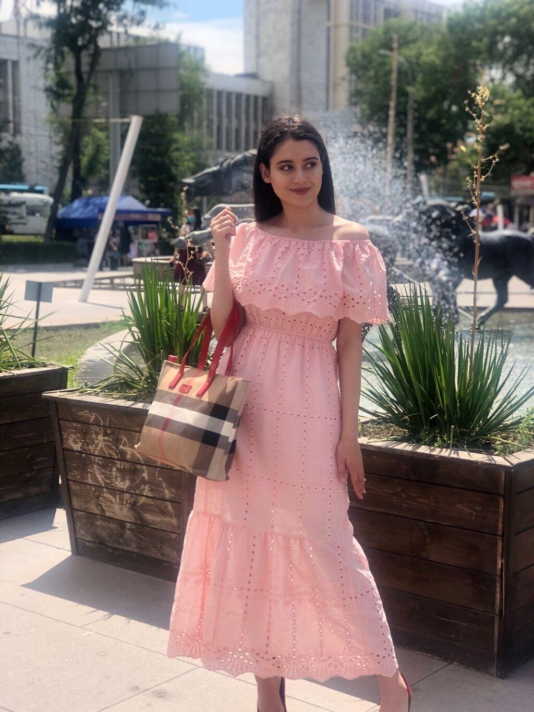 Платья крестьянка х/б В двух цветах  Размер стандарт: Платья крестьянка х/б В двух цветах  Размер стандарт