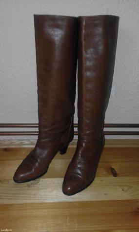 Braon kožne čizme, italijanske,očuvane,malo nošene. Br. 38. - Gornji Milanovac