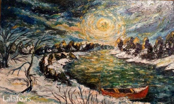 Ulje na platnu, akademski slikar ( Zima ) - Kragujevac