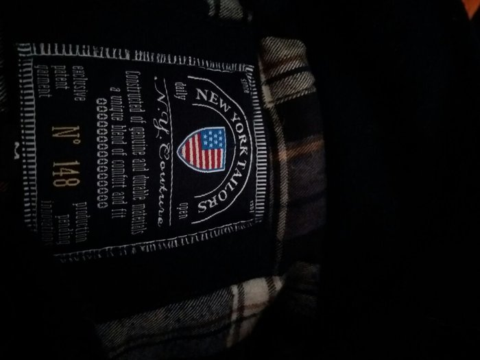 Ανδρικό παλτό navy blue New York Tailors αυθεντικό μάρκας άριστης κατά σε Αθήνα