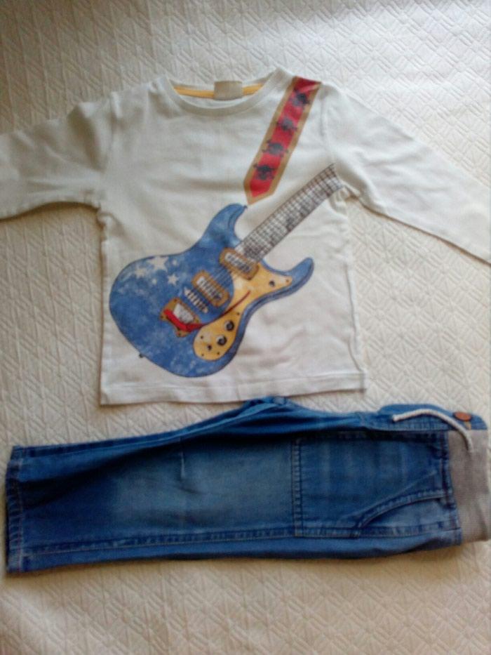 Zara 12-18 μηνων τζιν 4 ευρω,μπλουζακι 3 ευρω