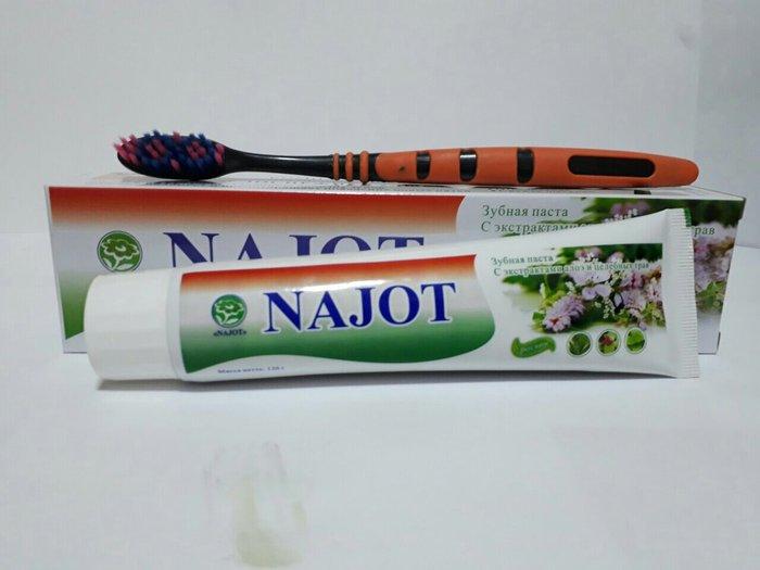 Зубная паста начот отбеливает зубы убирает кариес налет зубов оригинал в Худжанд
